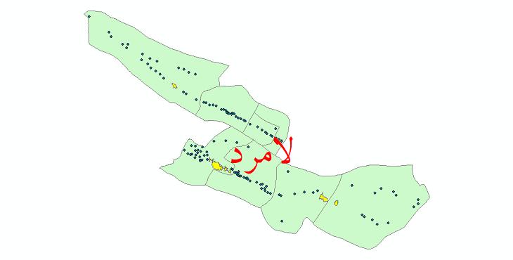دانلود نقشه جی ای اس تقسیمات سیاسی شهرستان لامرد سال 1398