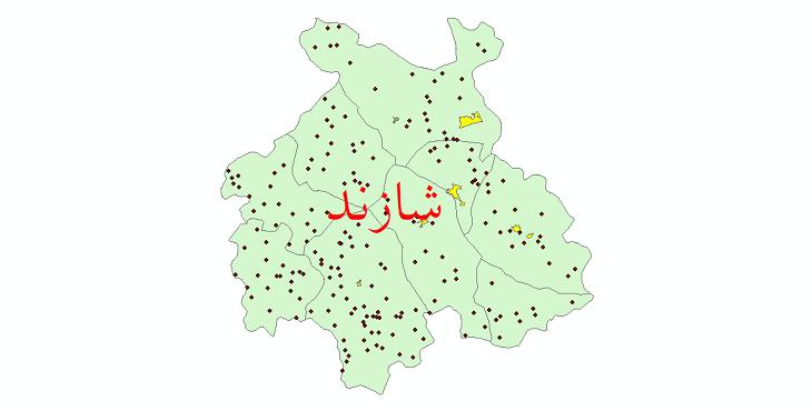 دانلود نقشه جی ای اس تقسیمات سیاسی شهرستان شازند سال 1398