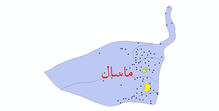 دانلود نقشه جی ای اس تقسیمات سیاسی شهرستان ماسال سال 1398