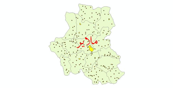 دانلود نقشه جی ای اس تقسیمات سیاسی شهرستان ملایر سال 1398