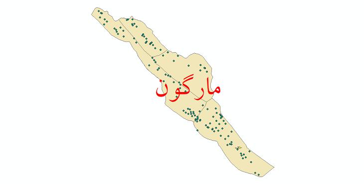 دانلود نقشه جی ای اس تقسیمات سیاسی شهرستان مارگون سال 1398