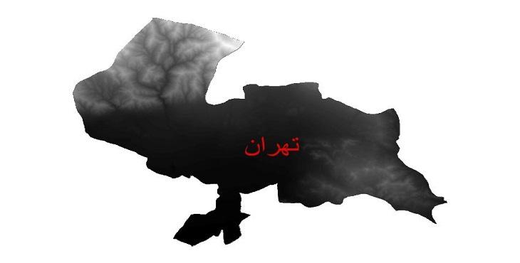 دانلود نقشه دم رقومی ارتفاعی شهرستان تهران
