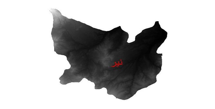 دانلود نقشه دم رقومی ارتفاعی شهرستان نیر