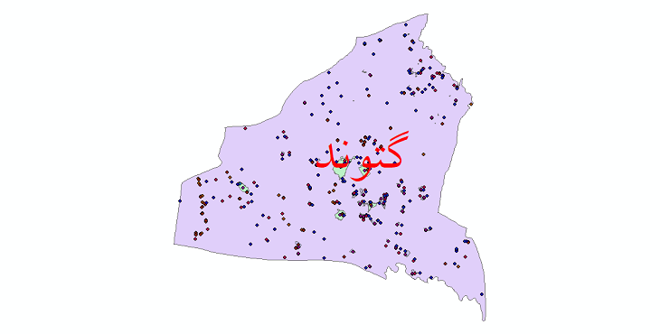 دانلود نقشه شیپ فایل آمار جمعیت نقاط شهری و نقاط روستایی شهرستان گتوند از سال 1335 تا 1395