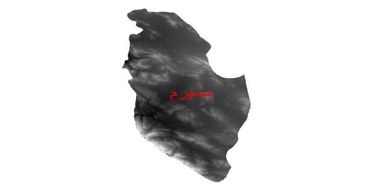 دانلود نقشه دم رقومی ارتفاعی شهرستان سمیرم