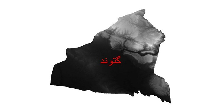دانلود نقشه دم رقومی ارتفاعی شهرستان گتوند