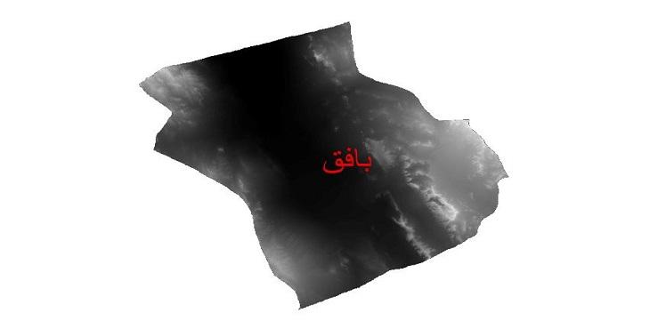 دانلود نقشه دم رقومی ارتفاعی شهرستان بافق