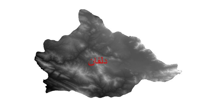 دانلود نقشه دم رقومی ارتفاعی شهرستان دلفان