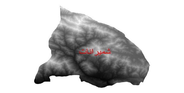 دانلود نقشه دم رقومی ارتفاعی شهرستان شمیرانات