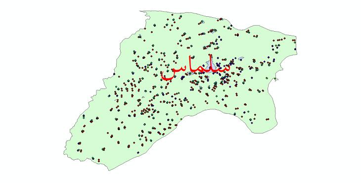 دانلود نقشه شیپ فایل آمار جمعیت نقاط شهری و نقاط روستایی شهرستان سلماس از سال 1335 الی 1395