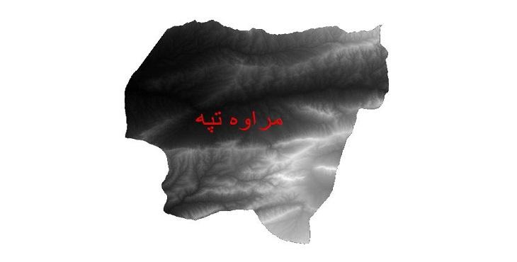 دانلود نقشه دم رقومی ارتفاعی شهرستان مراوه تپه