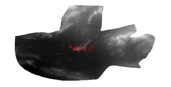 دانلود نقشه دم رقومی ارتفاعی شهرستان ارزوئیه