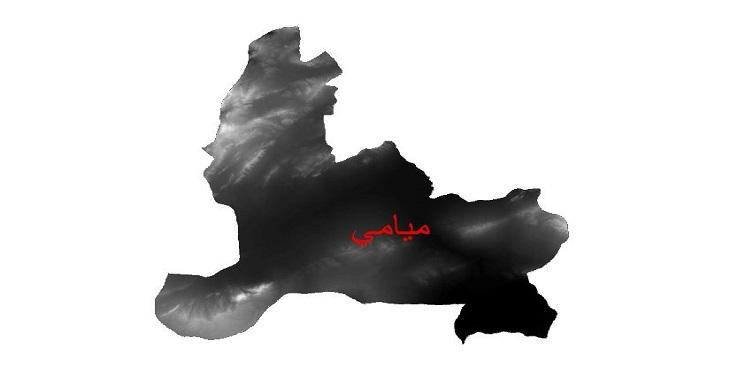 دانلود نقشه دم رقومی ارتفاعی شهرستان میامی