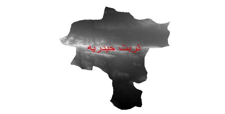 دانلود نقشه دم رقومی ارتفاعی شهرستان تربت حیدریه