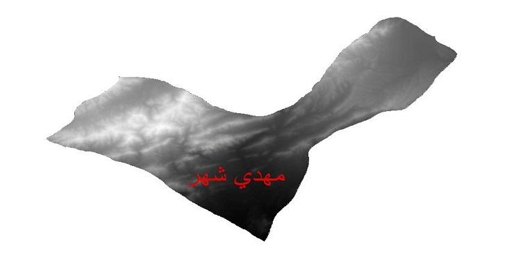 دانلود نقشه دم رقومی ارتفاعی شهرستان مهدی شهر