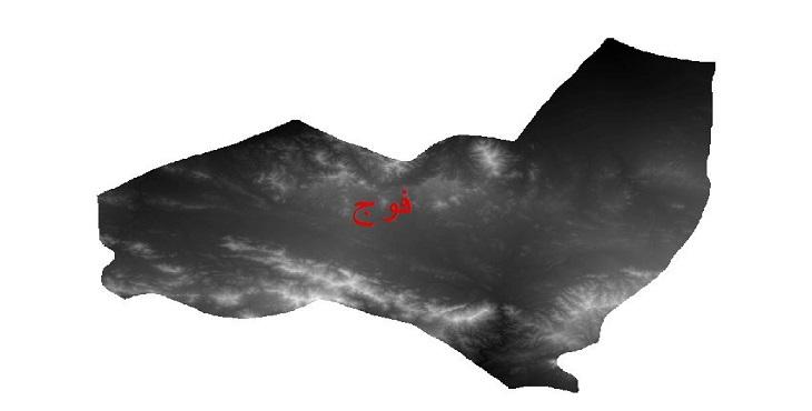 دانلود نقشه دم رقومی ارتفاعی شهرستان فنوج