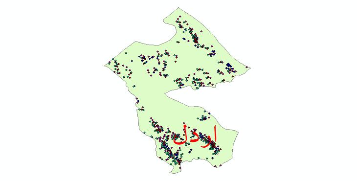 دانلود نقشه شیپ فایل آمار جمعیت نقاط شهری و نقاط روستایی شهرستان اردل از سال 1335 تا 1395