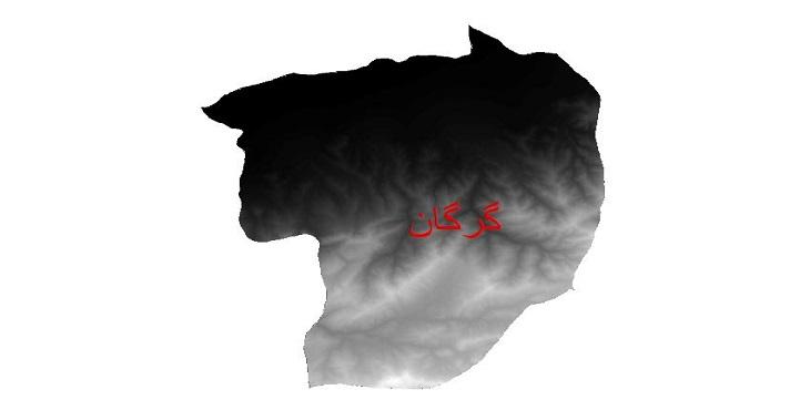 دانلود نقشه دم رقومی ارتفاعی شهرستان گرگان