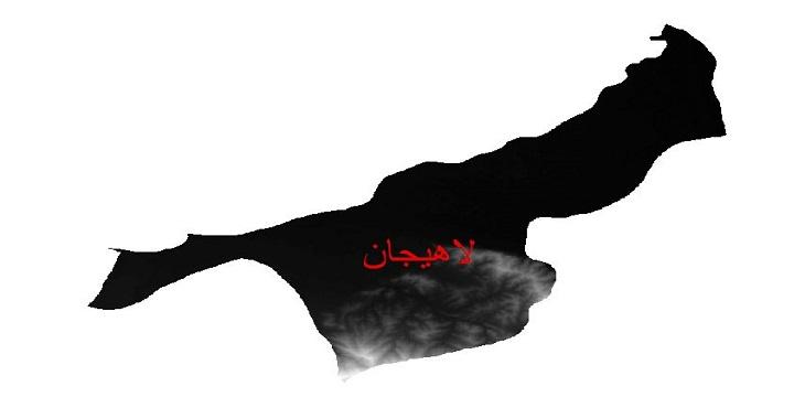 دانلود نقشه دم رقومی ارتفاعی شهرستان لاهیجان