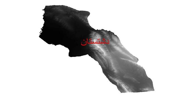 دانلود نقشه دم رقومی ارتفاعی شهرستان دشتستان
