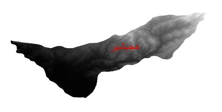 دانلود نقشه دم رقومی ارتفاعی شهرستان عجبشیر