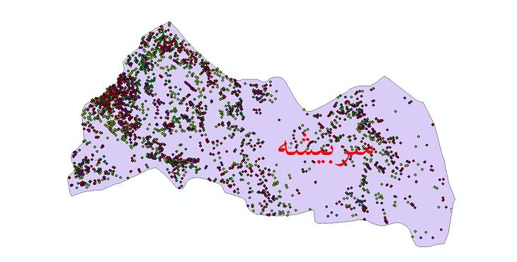دانلود نقشه شیپ فایل آمار جمعیت نقاط شهری و نقاط روستایی شهرستان سربیشه از سال 1335 تا 1395