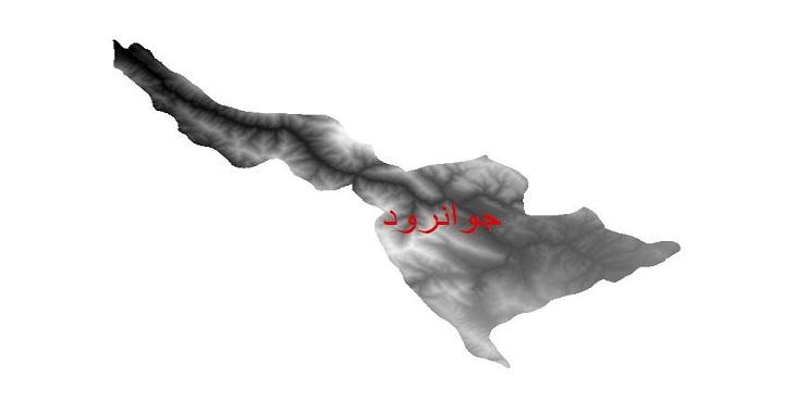 دانلود نقشه دم رقومی ارتفاعی شهرستان جوانرود