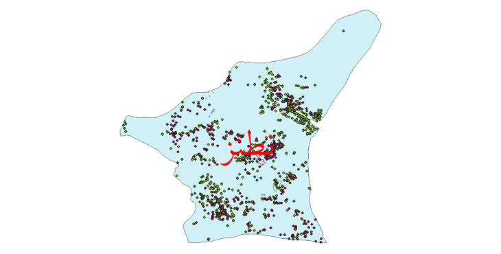 دانلود نقشه شیپ فایل آمار جمعیت نقاط شهری و نقاط روستایی شهرستان نطنز از سال 1335 تا 1395