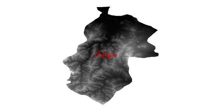 دانلود نقشه دم رقومی ارتفاعی شهرستان مهاباد