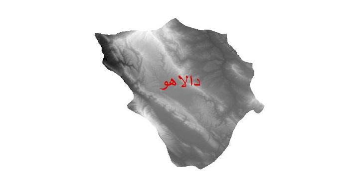 دانلود نقشه دم رقومی ارتفاعی شهرستان دالاهو