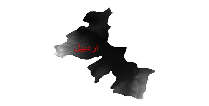 دانلود نقشه دم رقومی ارتفاعی شهرستان اردبیل