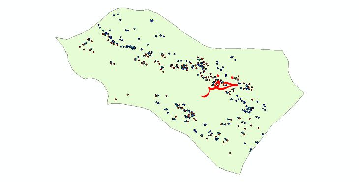 دانلود نقشه شیپ فایل آمار جمعیت نقاط شهری و نقاط روستایی شهرستان خفر از سال 1335 تا 1395