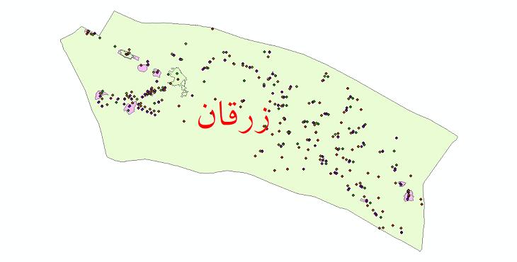 دانلود نقشه شیپ فایل آمار جمعیت نقاط شهری و نقاط روستایی شهرستان زرقان از سال 1335 تا 1395
