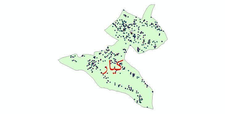 دانلود نقشه شیپ فایل آمار جمعیت نقاط شهری و نقاط روستایی شهرستان کیار از سال 1335 تا 1395