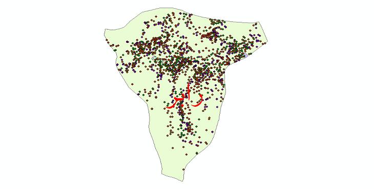 دانلود نقشه شیپ فایل آمار جمعیت نقاط شهری و نقاط روستایی شهرستان رابر از سال 1335 تا 1395
