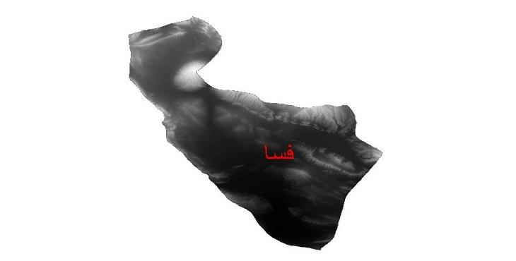 دانلود نقشه دم رقومی ارتفاعی شهرستان فسا