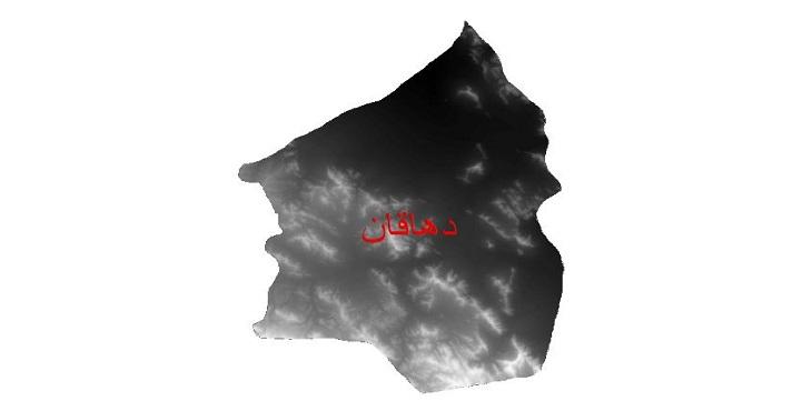 دانلود نقشه دم رقومی ارتفاعی شهرستان دهاقان