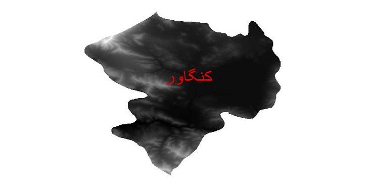 دانلود نقشه دم رقومی ارتفاعی شهرستان کنگاور