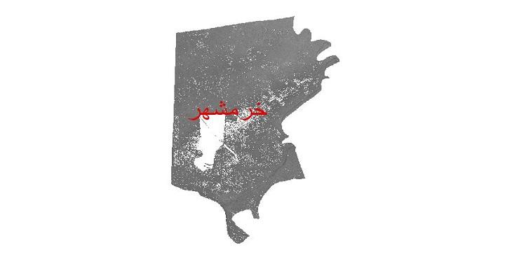 دانلود نقشه دم رقومی ارتفاعی شهرستان خرمشهر