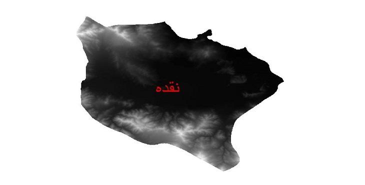 دانلود نقشه دم رقومی ارتفاعی شهرستان نقده