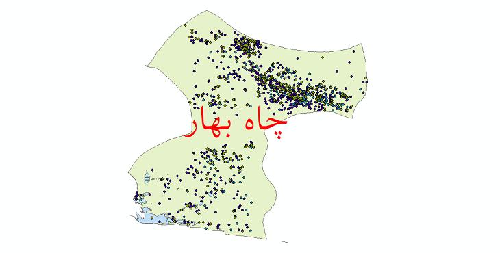 دانلود نقشه شیپ فایل آمار جمعیت نقاط شهری و نقاط روستایی شهرستان چابهار از سال 1335 تا 1395