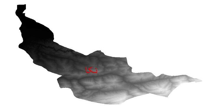 دانلود نقشه دم رقومی ارتفاعی شهرستان نکا