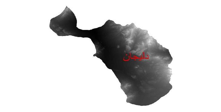 دانلود نقشه دم رقومی ارتفاعی شهرستان دلیجان