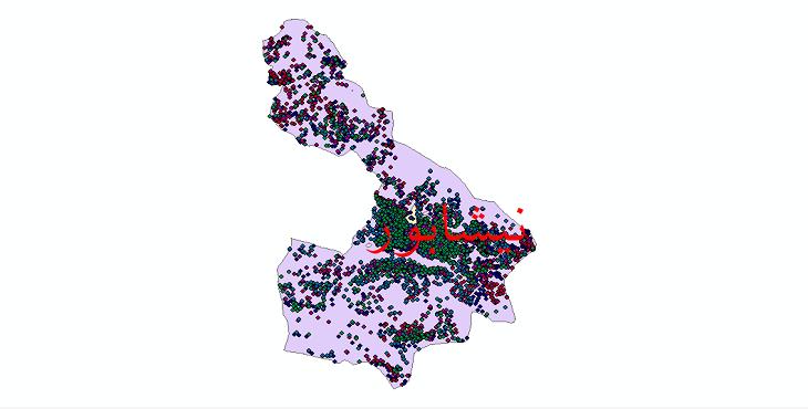 دانلود نقشه شیپ فایل آمار جمعیت نقاط شهری و نقاط روستایی شهرستان نیشابور از سال 1335 تا 1395