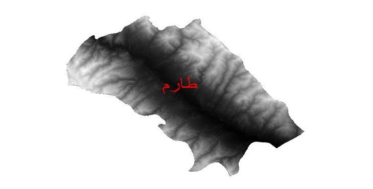 دانلود نقشه دم رقومی ارتفاعی شهرستان طارم