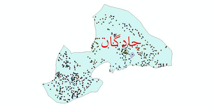 دانلود نقشه شیپ فایل آمار جمعیت نقاط شهری و نقاط روستایی شهرستان چادگان از سال 1335 تا 1395