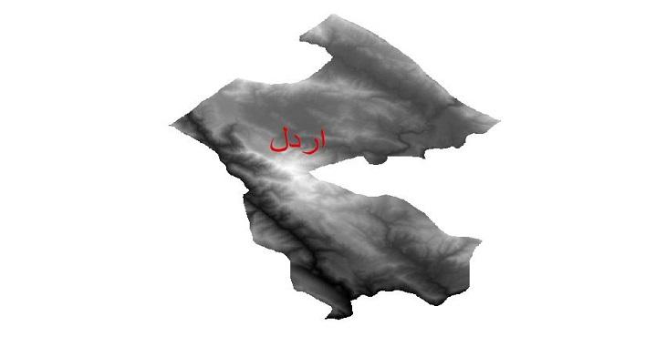 دانلود نقشه دم رقومی ارتفاعی شهرستان اردل