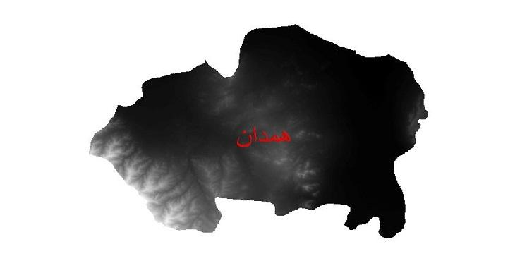 دانلود نقشه دم رقومی ارتفاعی شهرستان همدان