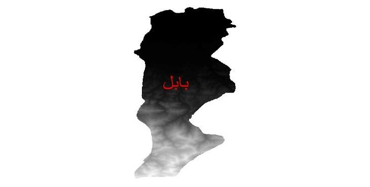 دانلود نقشه دم رقومی ارتفاعی شهرستان بابل