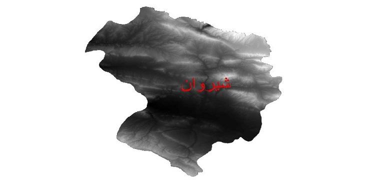 دانلود نقشه دم رقومی ارتفاعی شهرستان شیروان
